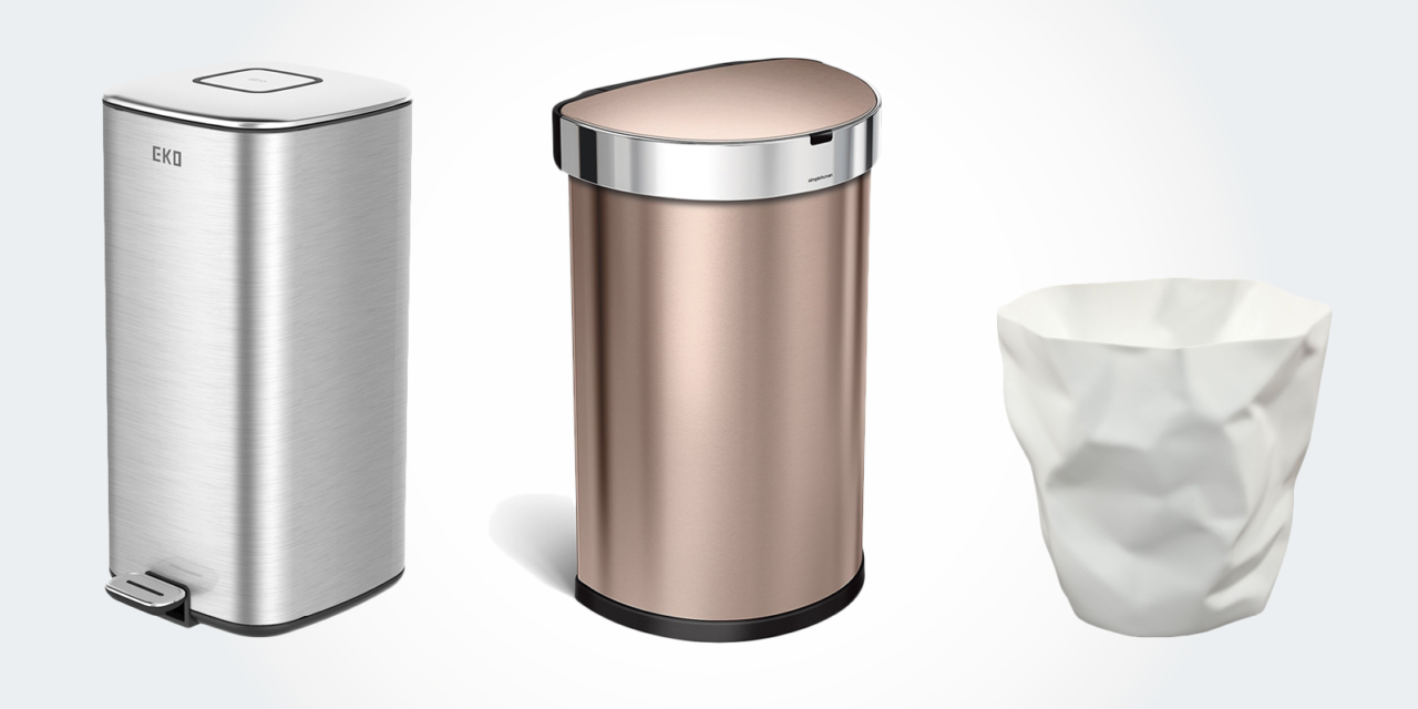 11 best coolest trash cans unique modern minimalist ultra slim